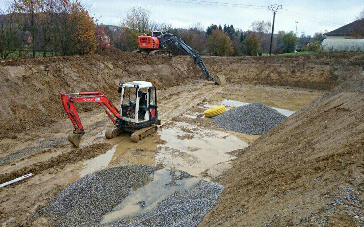 R alisations en travaux publics altkirch encer for Travaux de terrassement prix
